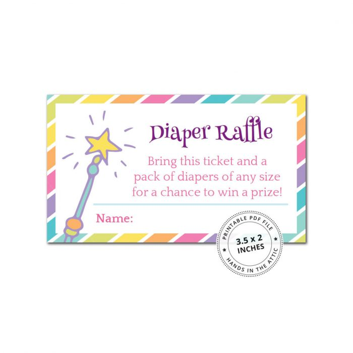 Rainbow Baby Shower Diaper Raffle