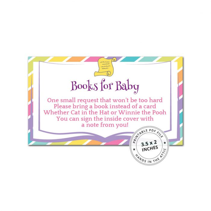 Rainbow Books for Baby Card
