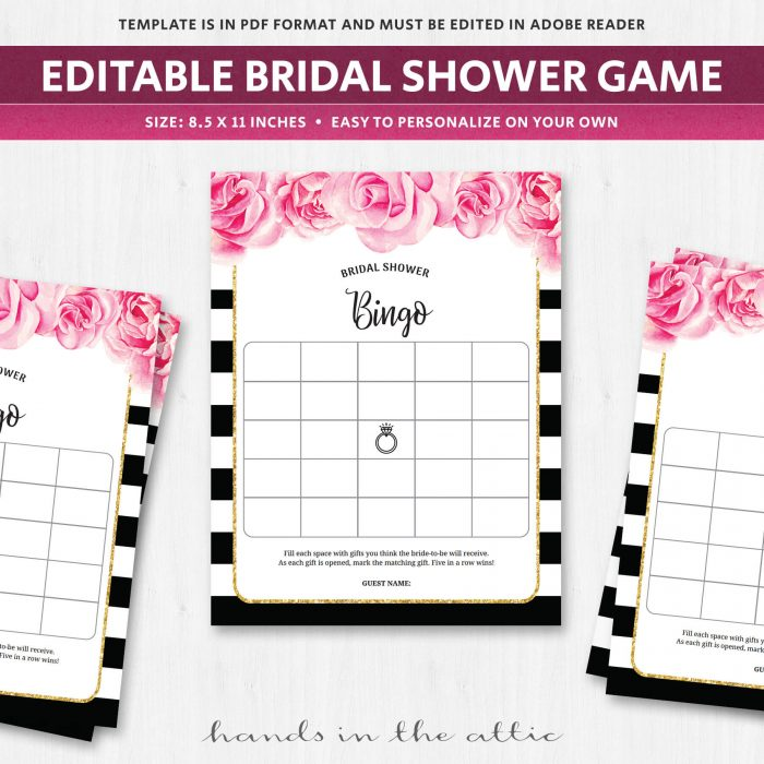 photo regarding Bridal Shower Bingo Printable titled Bridal Shower Game titles Archives Fingers within the Attic