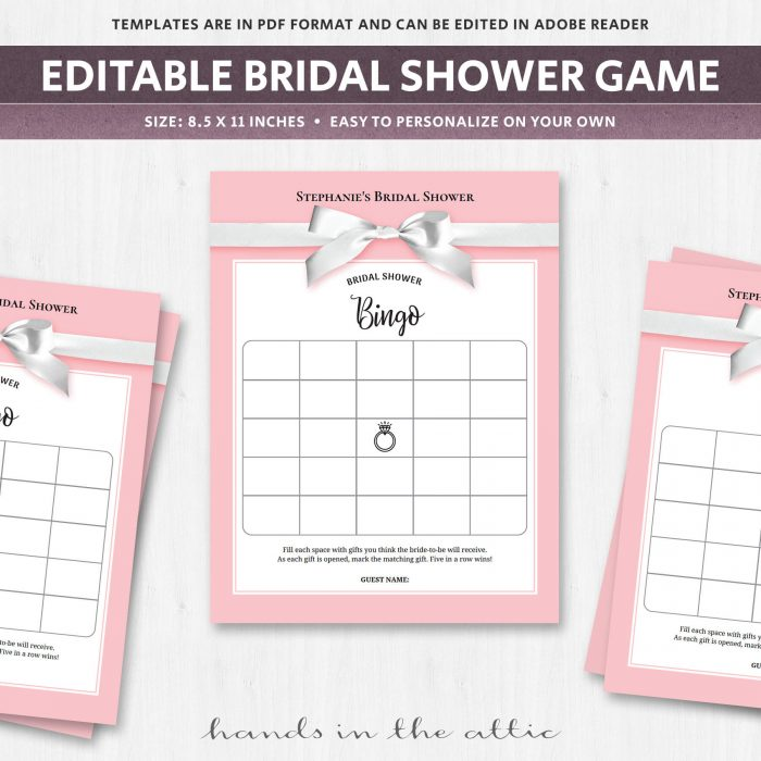 Bridal Shower Gift Bingo