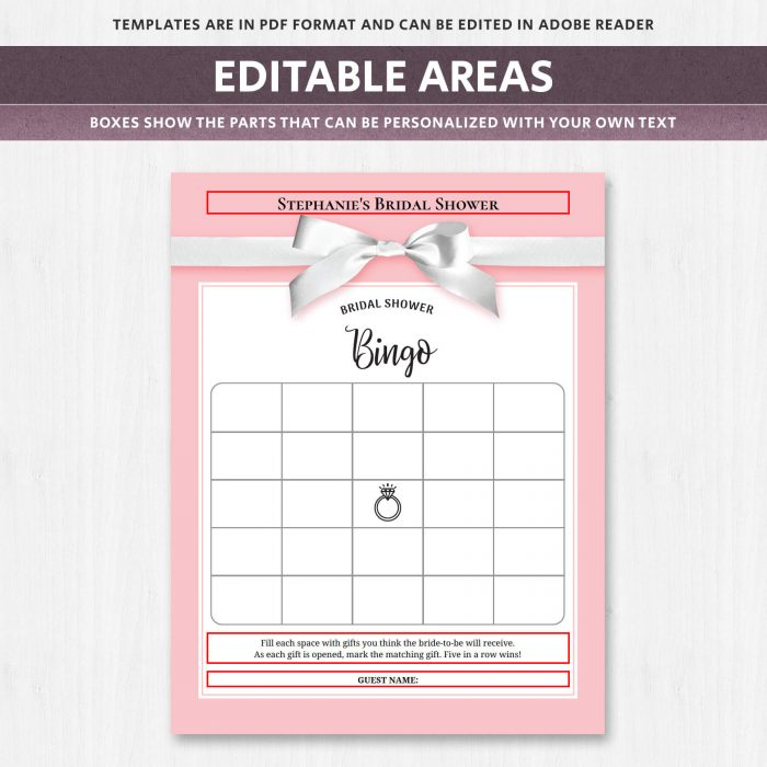 Bridal Shower Gift Bingo
