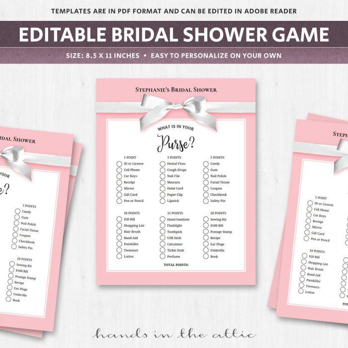 Bridal Shower Purse Game