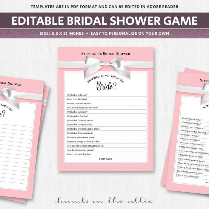 Bridal Shower Trivia
