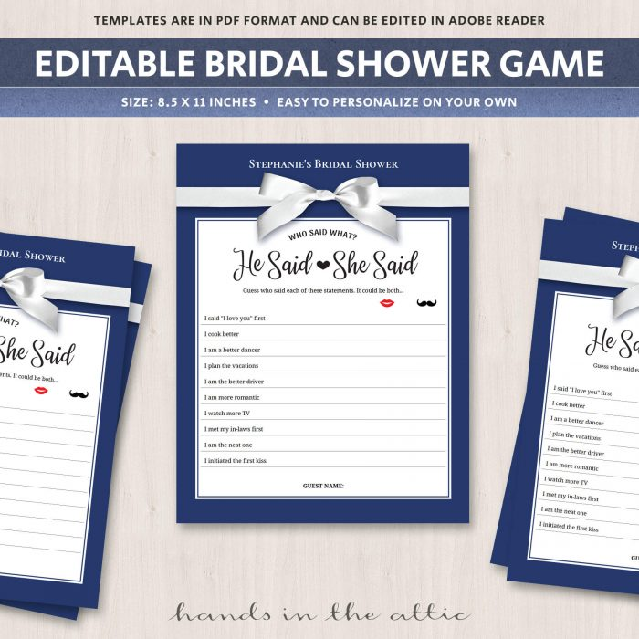 Co Ed Bridal Shower Games