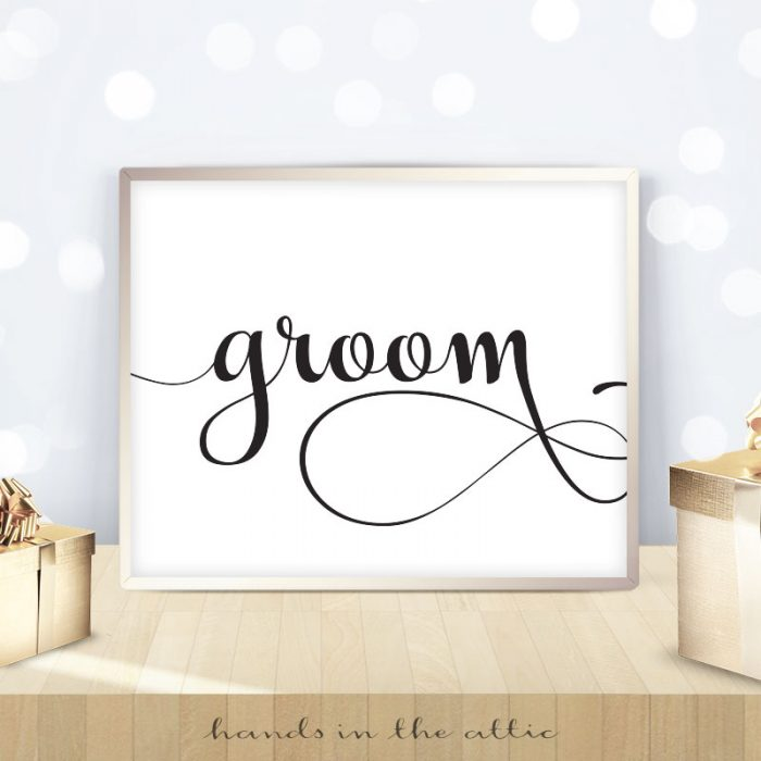 Groom Sign