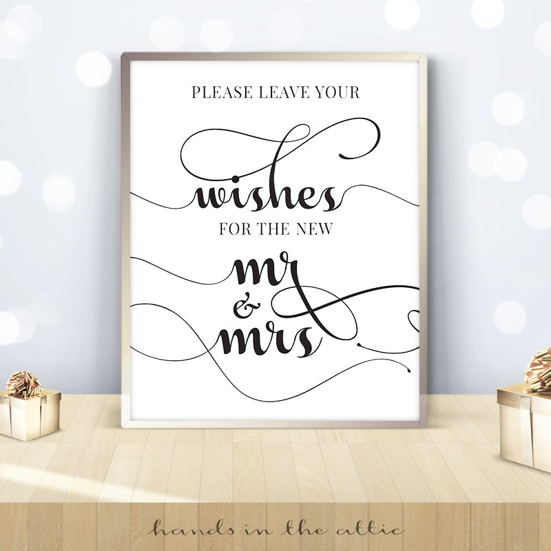Leave Wishes for the new Mr and Mrs