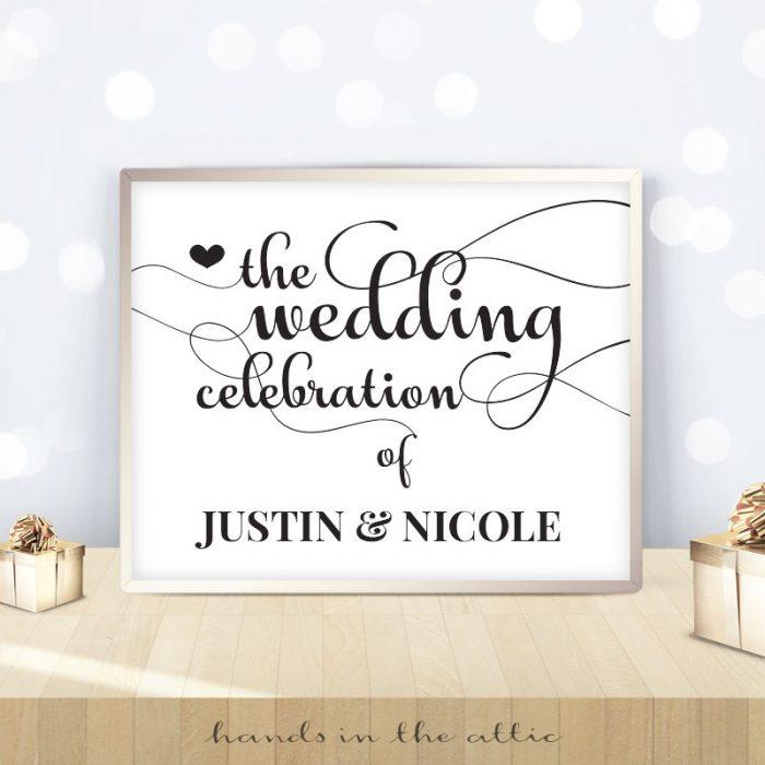 Wedding Celebration Sign