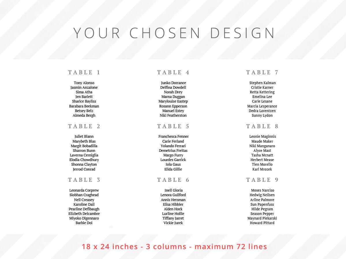 18 x 24 inches - 3 columns