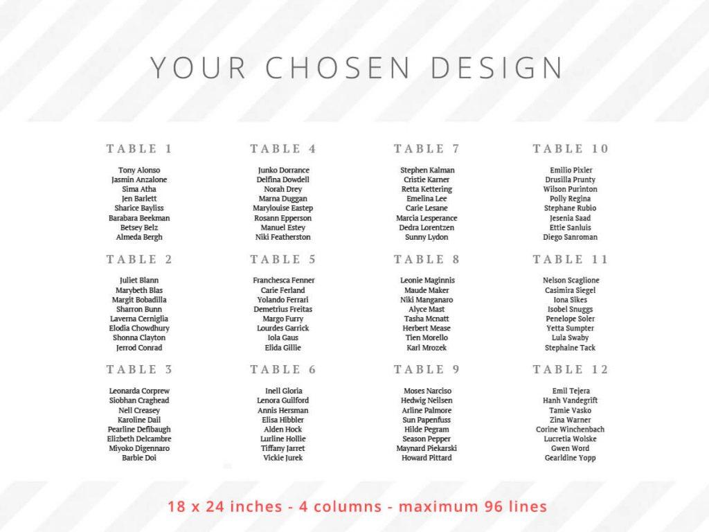 18 x 24 inches - 4 columns