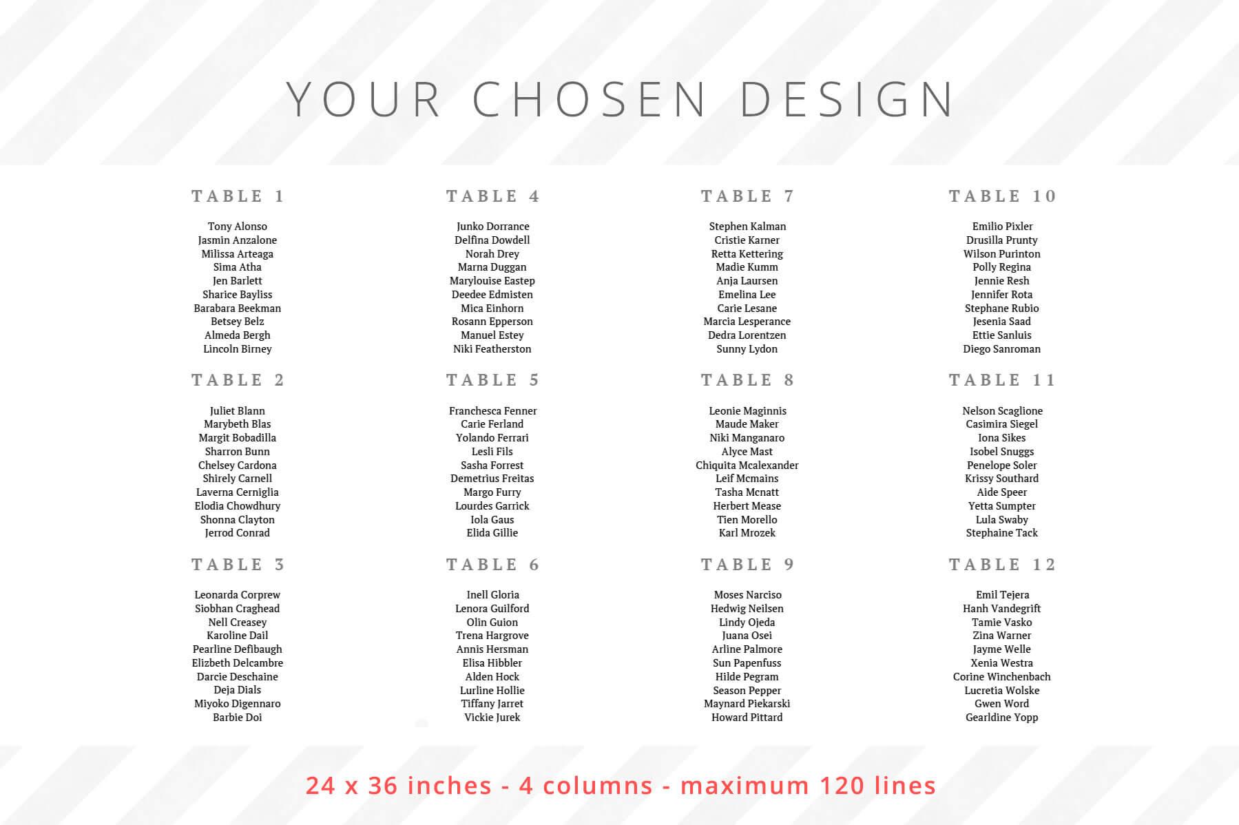 24 x 36 inches - 4 columns