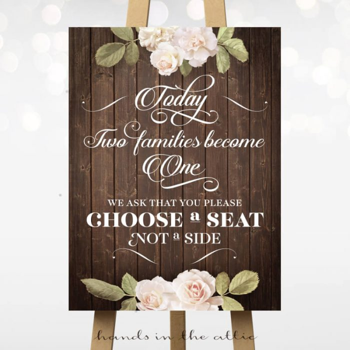 Choose a Seat - Vintage Flowers