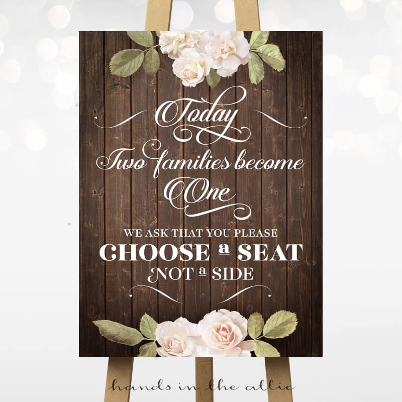 Choose a Seat - Vintage Flowers