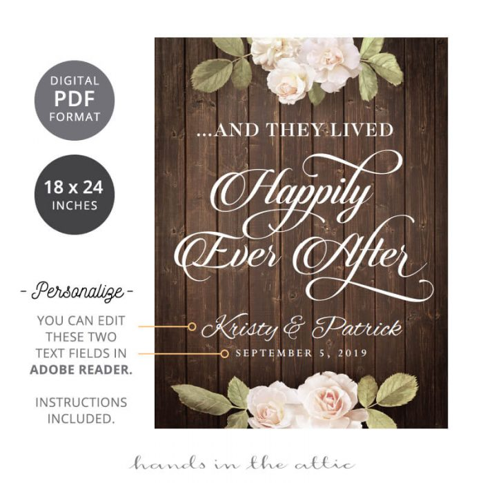 Happily Ever After - Wedding Sign
