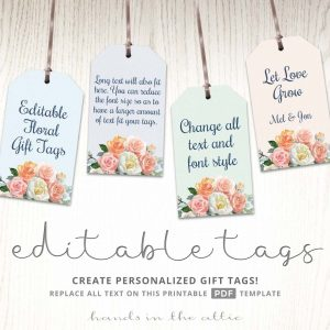 Printable Floral Gift Tags