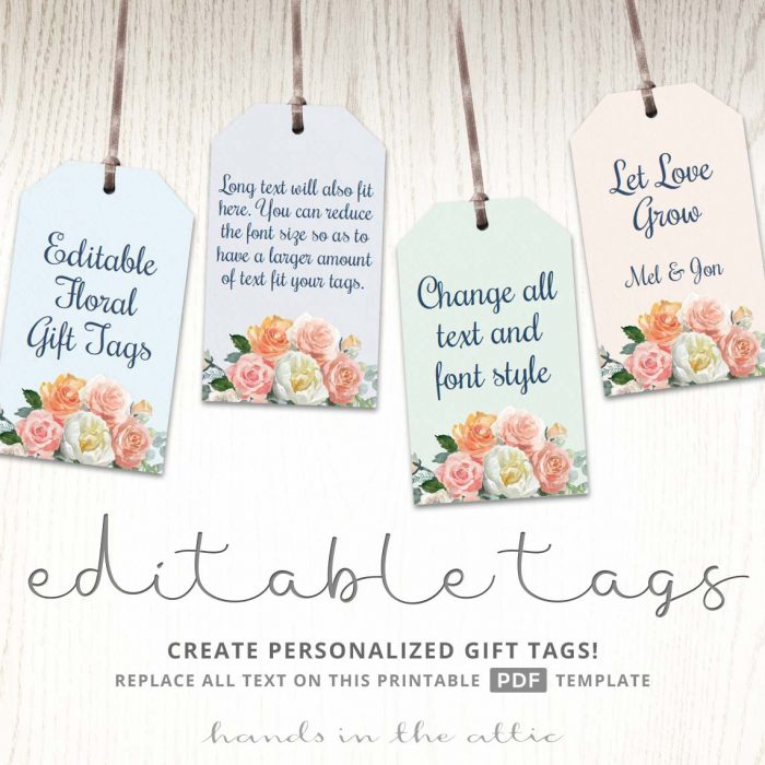 flower tags template free - printable christmas gift tags navy blue gold hands
