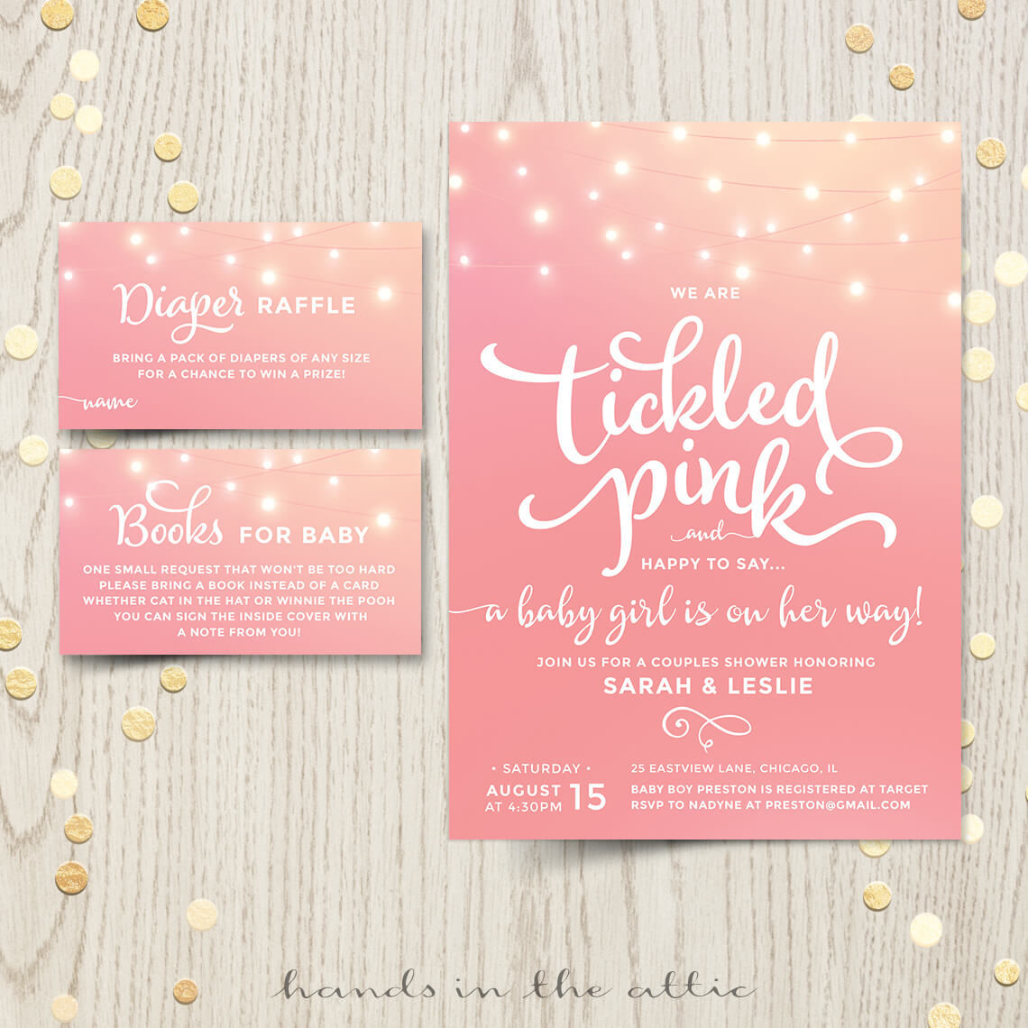 Tickled Pink Baby Shower Invitation | Printable Stationery ...