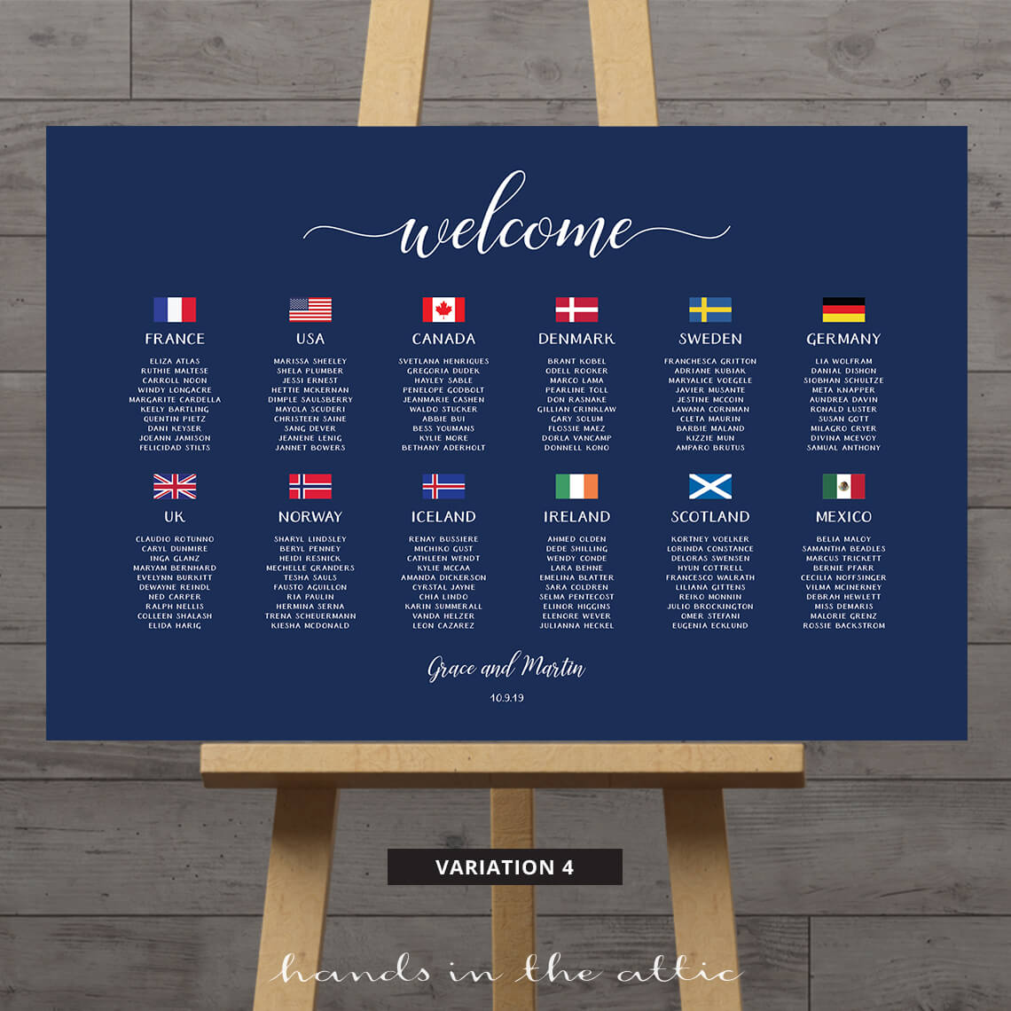 World Seating Chart With Country Flags Hands In The Attic