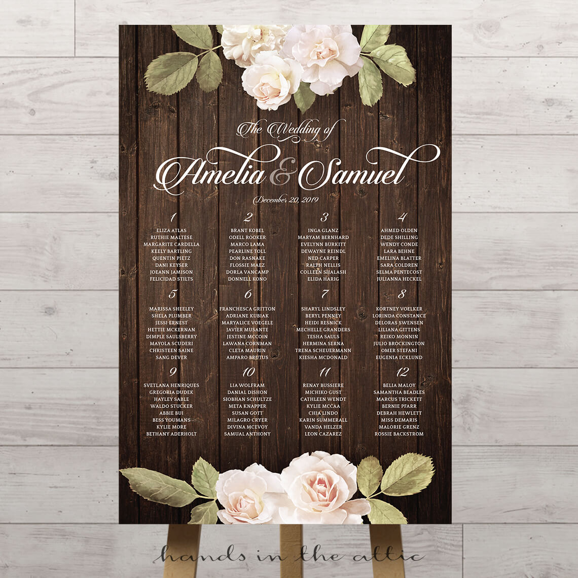 Vintage Floral Wedding Seating Chart Hands In The Attic