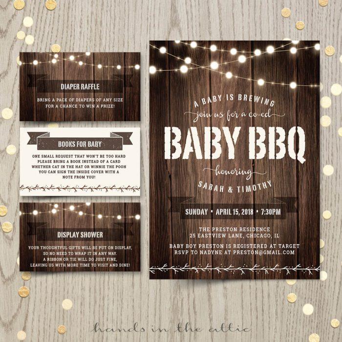 Baby Bbq Invitation