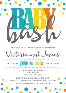 1 Baby Bash Invitation Printable