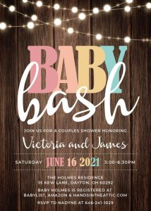 14 Rustic Baby Bash Invitation