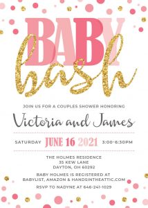 20 Blush Pink And Gold Baby Shower Invite