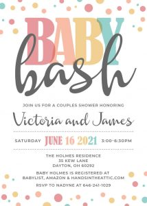 9 Pastel Baby Shower Invitation