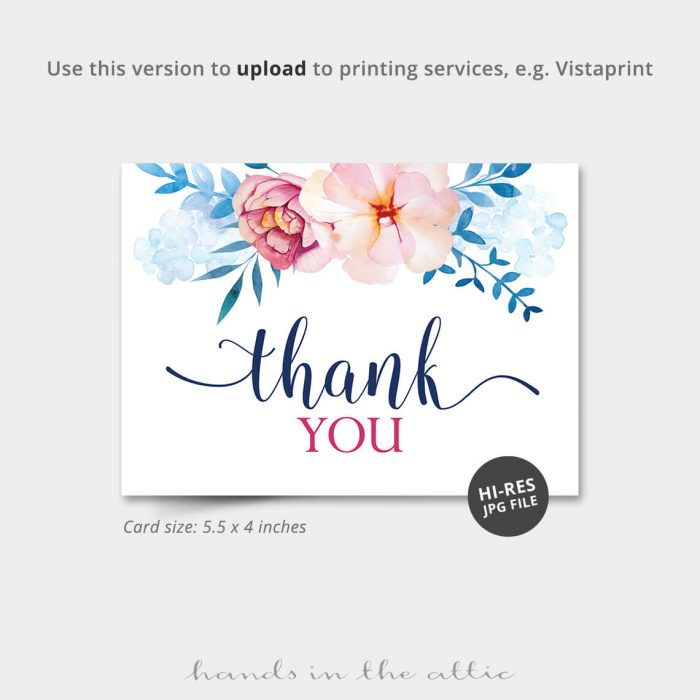 Blue Florals Vistaprint