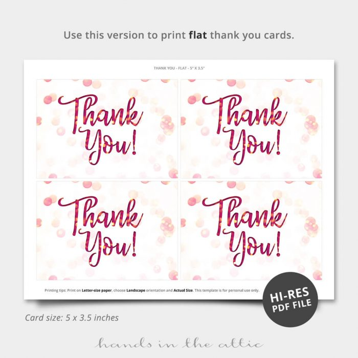 Brunch And Bubbly Printable Thank You Card