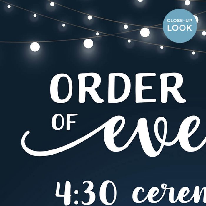 Digital Order Of Events Sign
