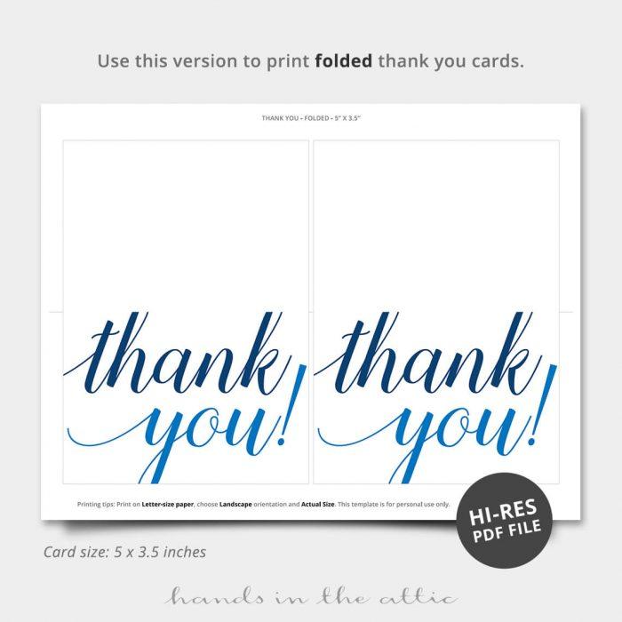 Oh Boy Blue Pdf Thank You Card