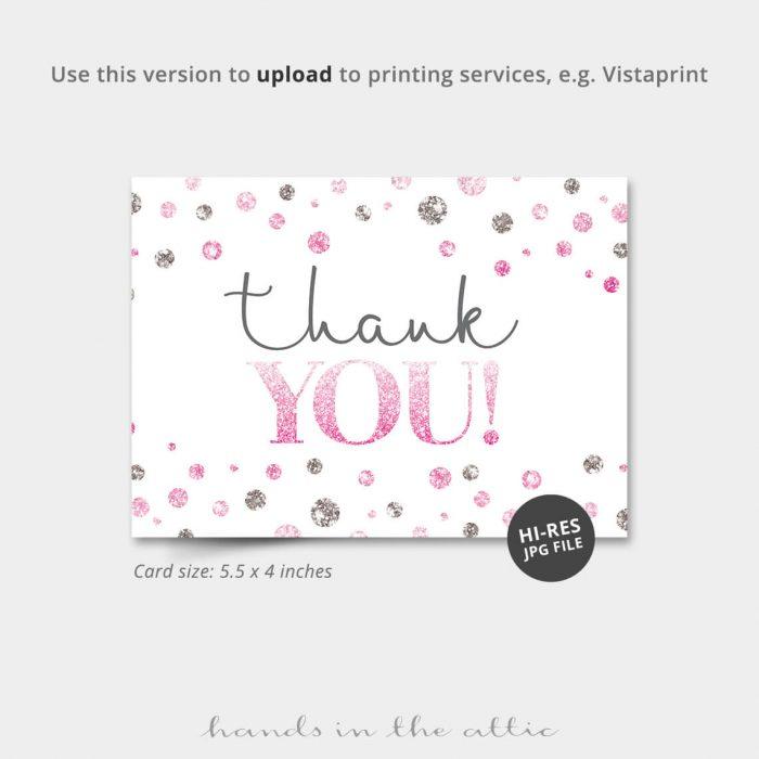 Pink Silver Dots Vistaprint