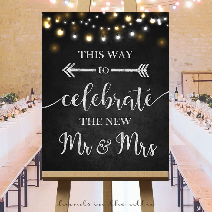 Printable Wedding Direction Sign