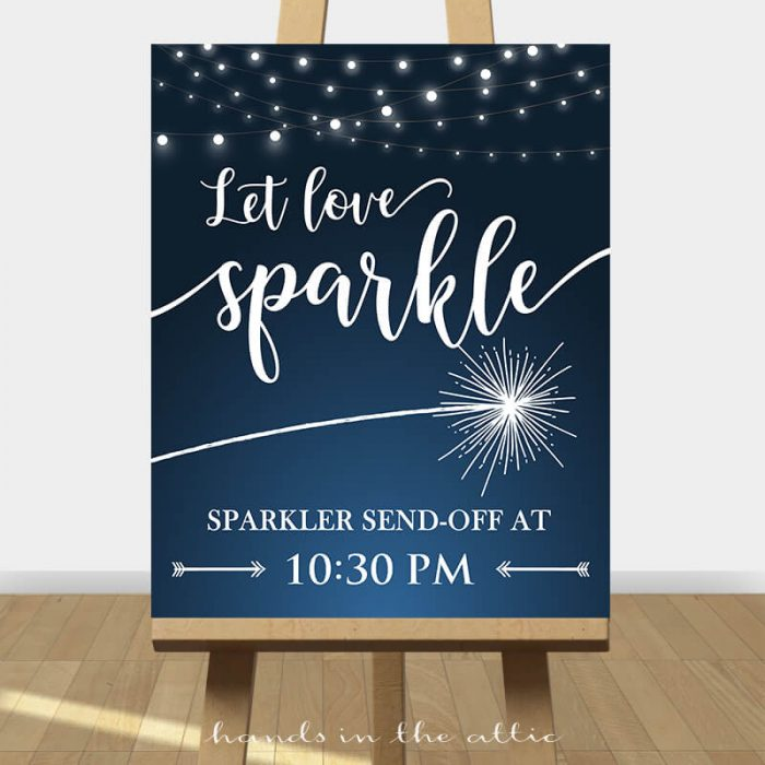 Sparkler Wedding Sign