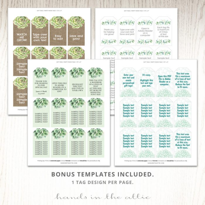 Watch Me Grow Seeds Labels