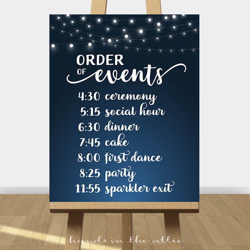 Wedding Day Itinerary