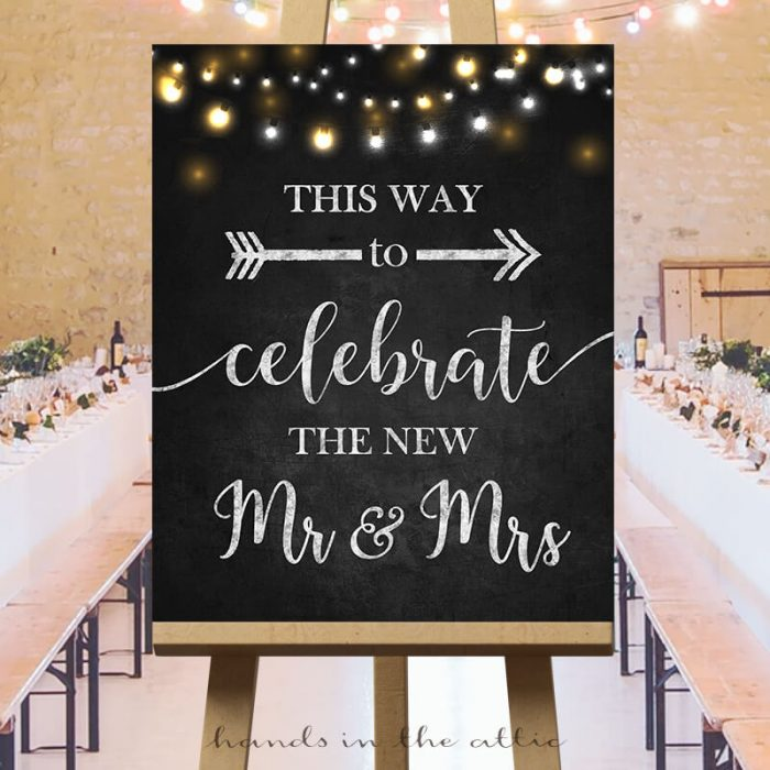 Wedding Direction Sign