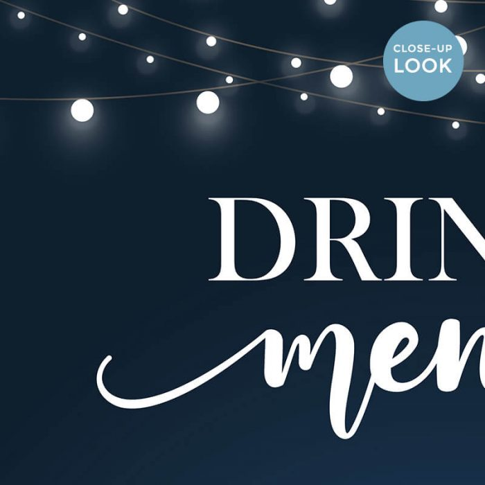 Wedding Drinks Menu Printable