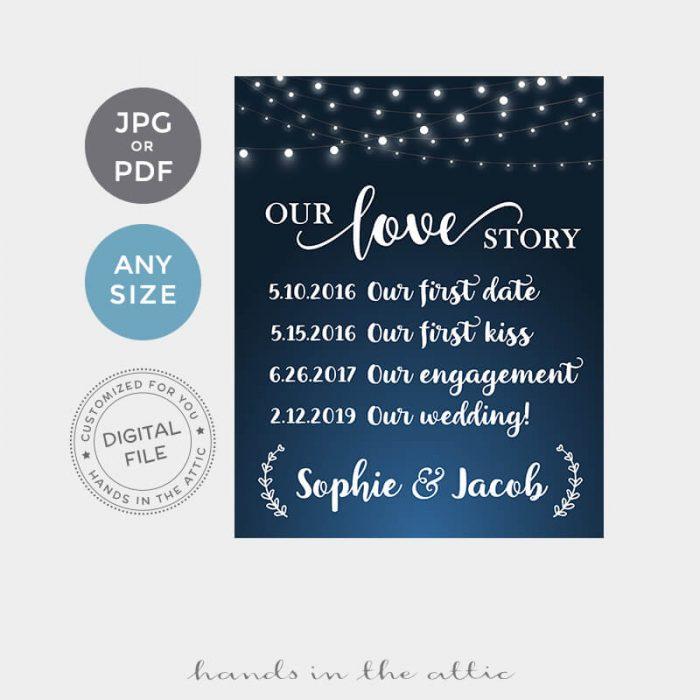 Wedding Love Story Printable
