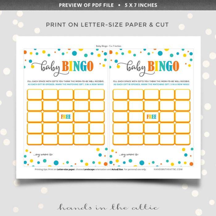 Baby Bingo Instant Download