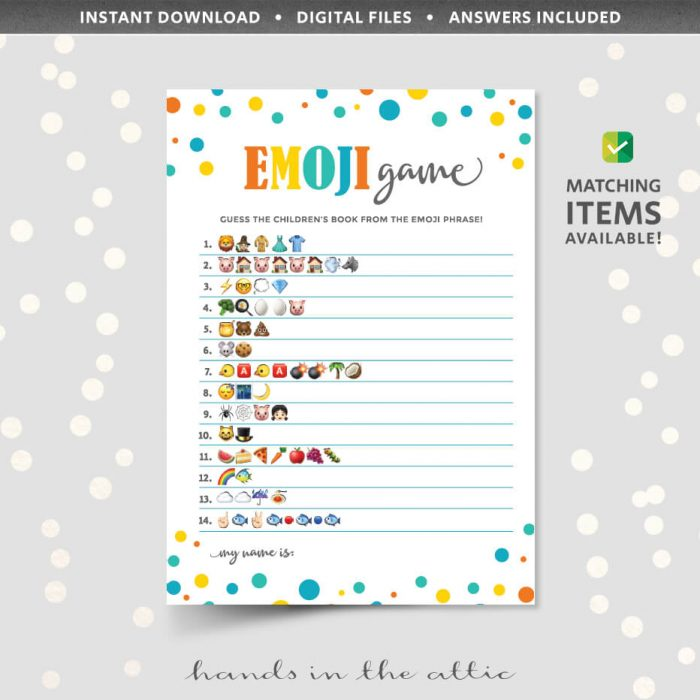 Emoji Game Childrens Books