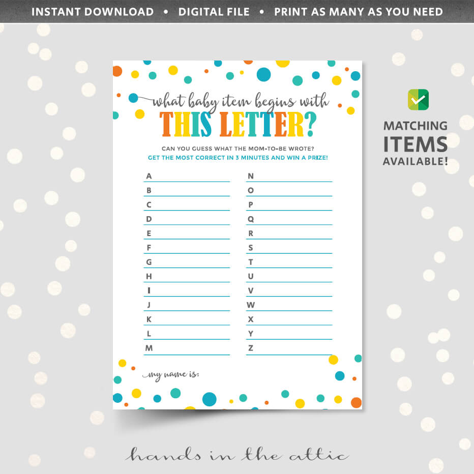 Letter From Baby To Baby Shower Guests: Hands In The Attic