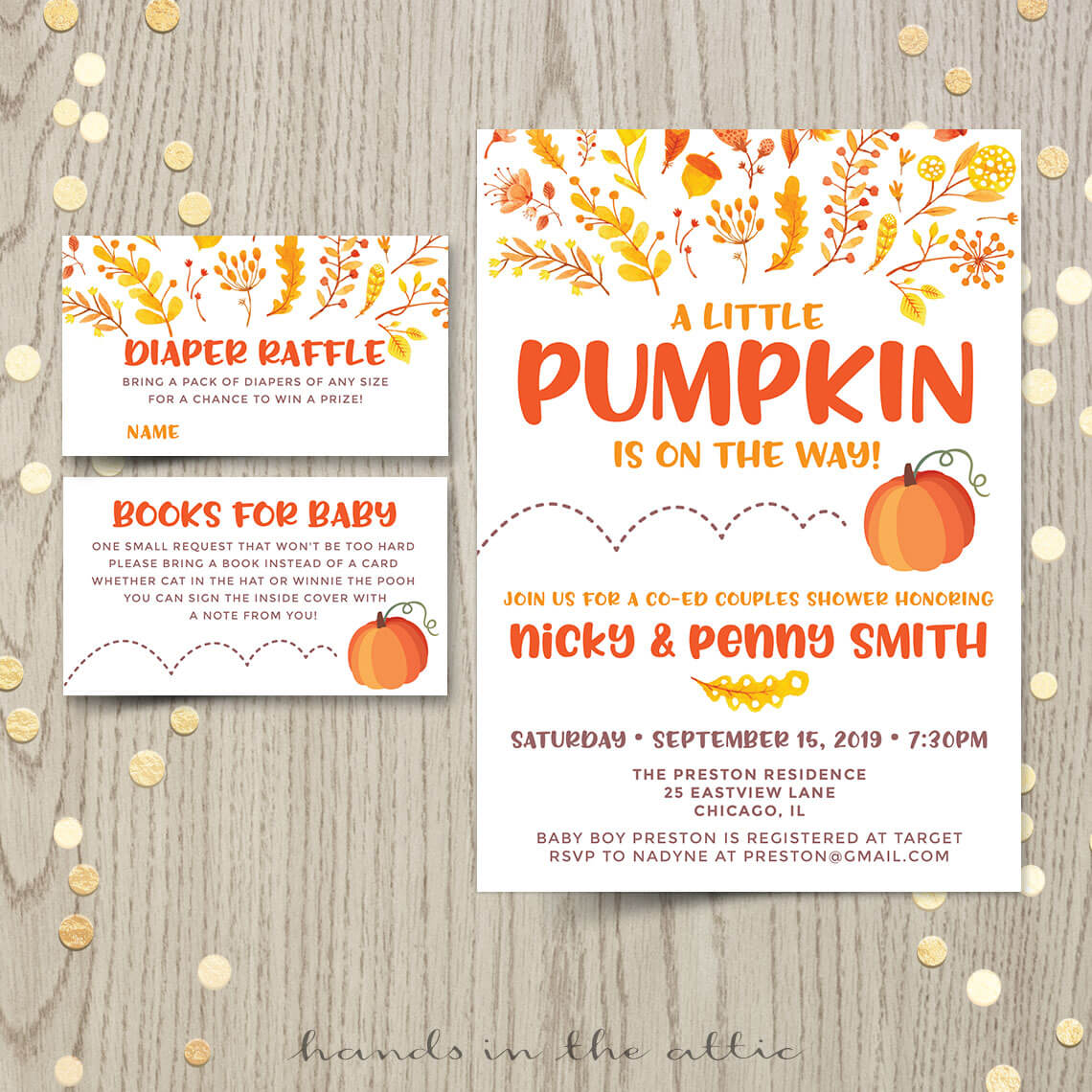 Little Pumpkin Baby Shower or First Birthday Invitation | Printable ...