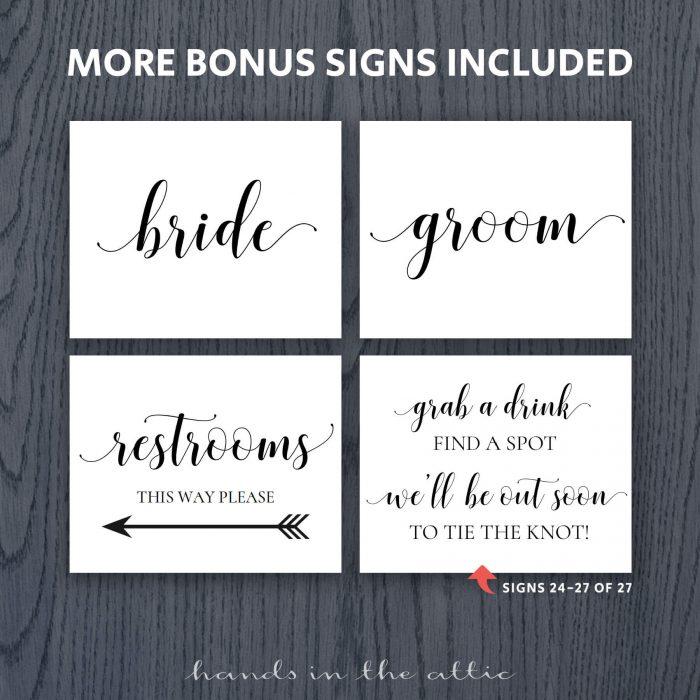 Printable Wedding Signs 8x10