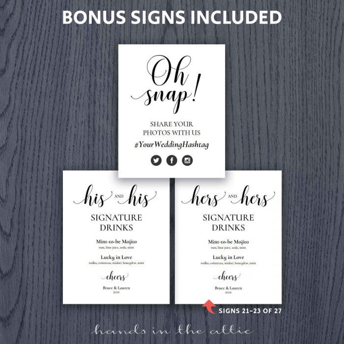 Printable Wedding Signs Basic