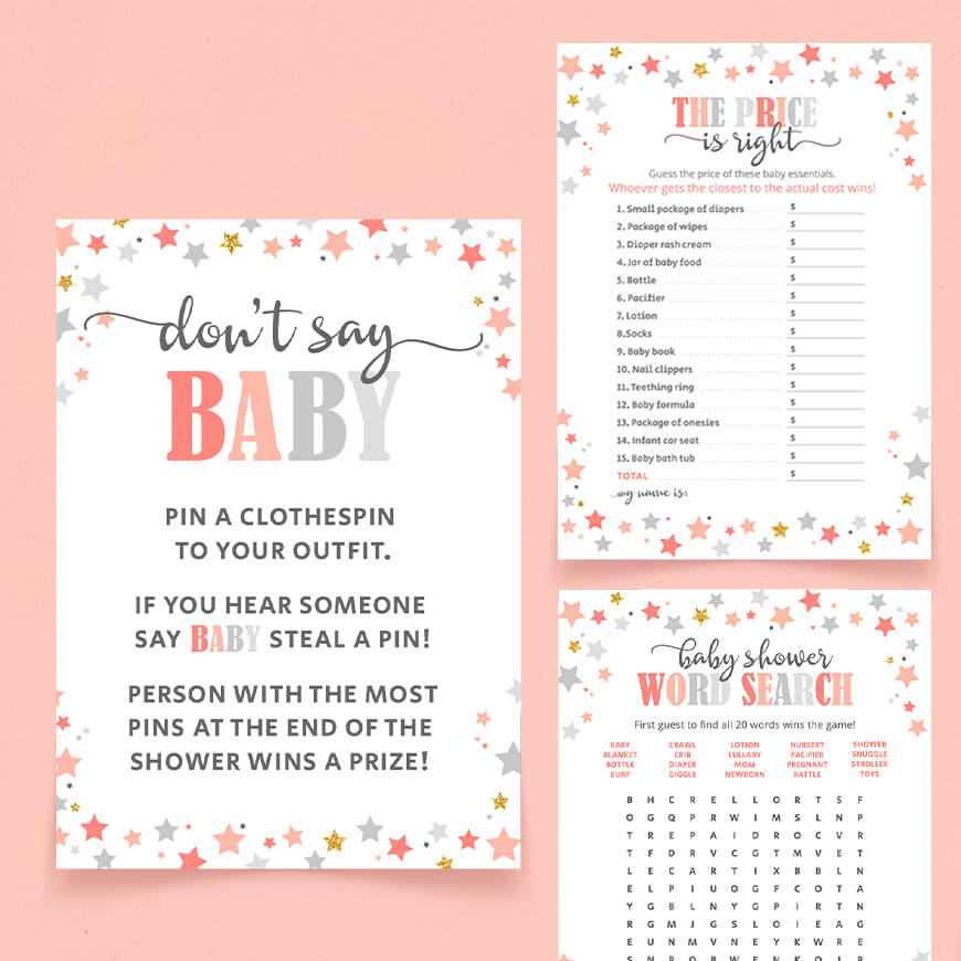 Stars Baby Shower Games
