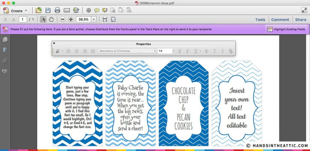 Printable Gift Tags Baby Boy Shower