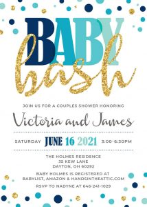 18 Aqua Aquamarine Tiffany Blue Baby Shower Invitation
