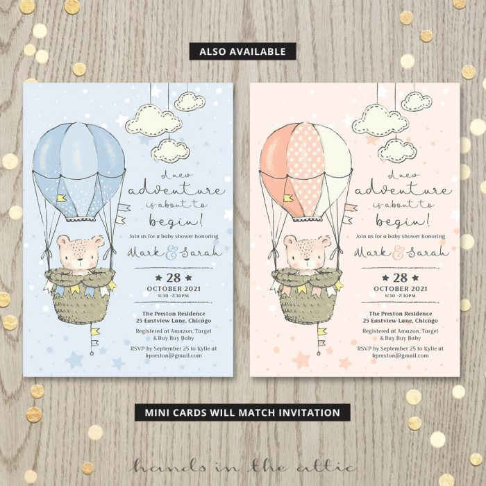 Brown Bear Theme Baby Shower For Unisex Both Parents