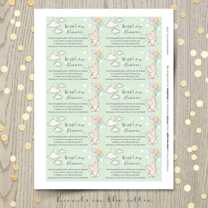 Light Green Baby Shower Invite Printable